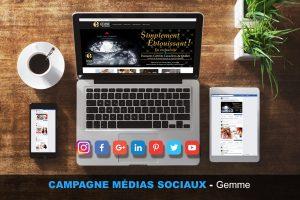 Campagne, médias sociaux, facebook, gemme, webmkg, publicité, promotion, vidéo, efficace