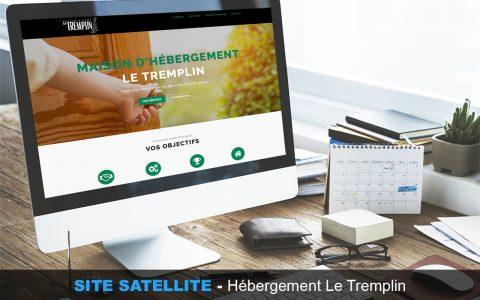 site satellite, site, onepage, conception, web, webmkg, publicité, promotion, campagne, hébergement, le tremplin
