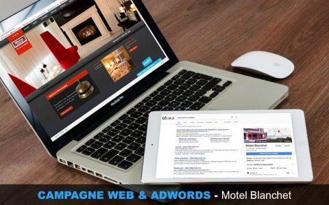Campagne, web, adwords, motel, blanchet, webmkg, publicité, promotion